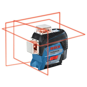 Bosch GLL3-330C 360-Degrees 3-Plane Red Beam Self-Leveling Line Laser Kit