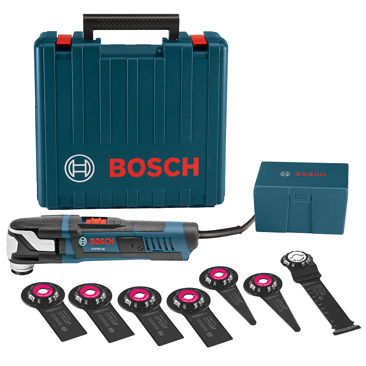 Bosch GOP55-36C1 5 5-Amp Aluminum Starlock Max Oscillating Multi-Tool Kit -  8pc