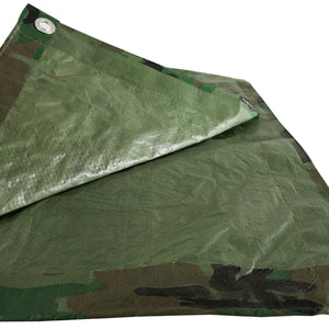 Camouflage 8x16 Green Hunting Army Camo Tarp Cover Patio Canopy Farm Shade