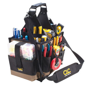 "Custom Leather Craft CLC-1528 23 Pocket - 11"" Large Electrical & Maintenance Tool Carrier"