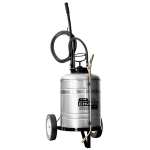 Chapin 6300 6 Gallon Heavy Duty Industrial Stainless Steel Cart Sprayer