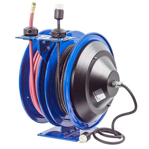 Coxreels C-L350-5012-A 3/8-Inch x 50-Foot 300 Psi Dual Electric/Air Hose Reel