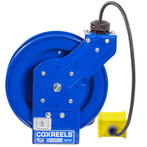 Coxreels PC19-7512-B 75-Foot Quad Receptacle Spring Rewind Reel w/ Power Cord