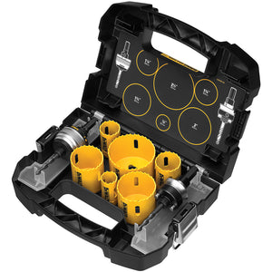 DEWALT D180002 Standard Electricians Bi-Metal Hole Saw Kit