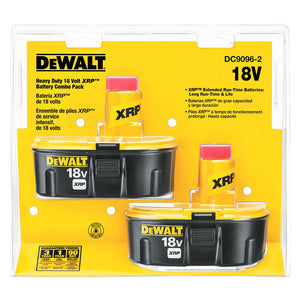 DeWALT DC9096-2 18-Volt 2.4 Ah XRP Ni-Cd Cordless Power Tool Battery - 2pk