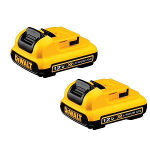 DeWALT DCB127-2 XR 12V MAX* 2.0Ah Lithium Ion Slide Power Tool Battery 2-Pack