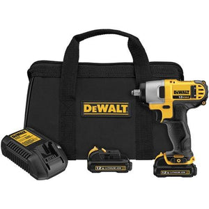 DeWalt DCF813S2 12V Max Cordless Lithium Ion 3/8-inch Impact Wrench Kit