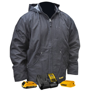 DeWALT DCHJ076ABD1-XL 20V Heated Heavy Duty Work Coat Kit Black XL - Bare Tool