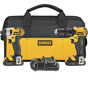 DeWALT DCK280C2R 20V MAX Lithium Ion Compact Drill & Impact Combo Kit (1.5 Ah) - Reconditioned