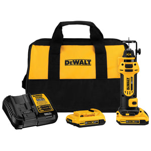 DEWALT 20V Max Lithium Ion Cordless Drywall Cut-Out Tool Kit - DCS551D2
