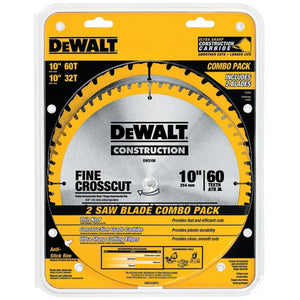 "DeWALT DW3106P5 10"" Crosscutting Saw Blade Combo Pack - DW3106 DW3103"