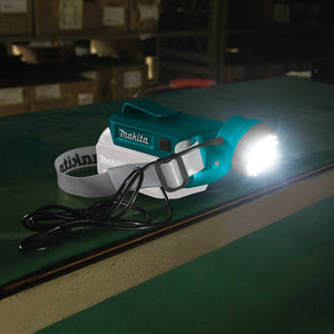 Makita DML800 18-Volt 100-Lumen Cordless Lithium-Ion L.E.D Headlamp - Bare Tool