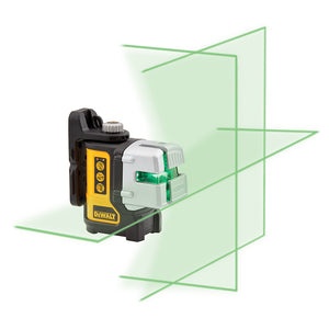 DeWALT DW089CG 3-Way IP54 Green Beam Self-Leveling Multi Line Laser Level