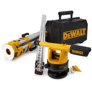 DeWALT DW092PK 20x Transit Level Rod Tripod Tool Package + Case