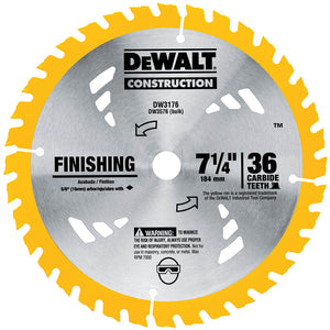 DeWALT DW3176 Series 20 Construction 7-1/4'' 36T Thin Kerf Saw Blade