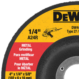 DeWALT DW4419 4'' x 1/4'' x 5/8'' High Performance Metal Grinding Wheel