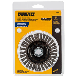 DeWALT DW49204 4'' x 5/8''-11 HP 0.02 Stainless Stringer Wire Wheel
