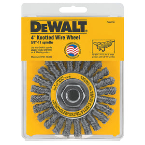 "DeWALT 4"" x 5/8""-11 HP .020 Carbon Cable Twist Wire Wheel - DW4930"