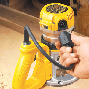 DeWALT DW618D Heavy-Duty 38018 HP (maximum motor HP) EVS D-Handle Router with Soft Start