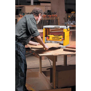 "DeWALT DW734 12-1/2"" Thickness Three Knife Head Wood Planer Tool - 15 Amp"
