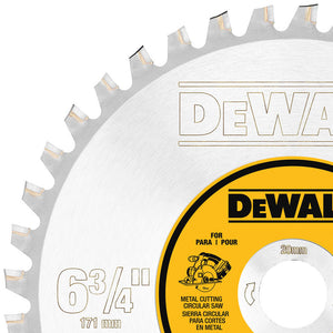 "DeWALT DWA7763 6-3/4"" 40-Tooth Carbide-Tipped Ferrous Metal Cutting Blade"