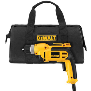 "DeWALT DWD110K 3/8"" VSR Pistol Grip Drill Driver Tool Kit - Electric"