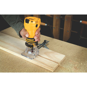 "DeWALT DWE6000 1/4"" Collet Single Speed Laminate Trimmer Cutter - Electric"