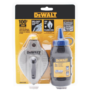 DeWALT DWHT47309L Cast Aluminum Chalk Reel with Blue Chalk