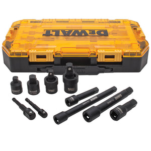 DeWALT DWMT74741 3/8 and 1/2-Inch Drive Black Oxide Impact Accessory Set - 10pc