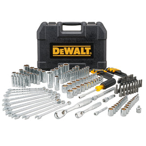 DeWALT DWMT81533 Durable Chrome SAE Quick Release Mechanics Tool Set - 172pc