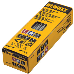 DeWALT DWNS18PP 18Ga Multi-Size Steel Narrow Crown Staple Assortment - 900pk