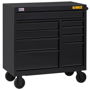 DeWALT DWST24192 41-Inch 900-Series 9-Drawer Rolling Mobile Workbench - Black