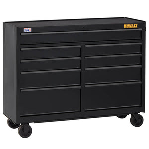 DeWALT DWST25292 52-Inch 700-Series 9-Drawer Rolling Storage Cabinet - Black