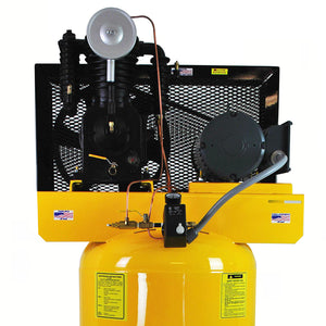 EMAX EP05V080I1 5 HP 1- Phase 2-Stage 80 Gal. Vertical Stationary Electric Air Compressor-With Pressure Lube Pump