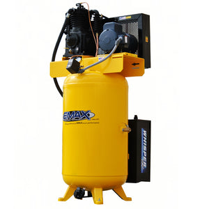 EMAX ESP05V080I1 5 HP 1 PH 80 GALLON VERTICAL WITH AIR SILENCER-With Pressure Lube Pump