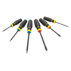 Stanley FMHT62052 6-Piece Magnetic Diamond Tip Black Phosphate Screwdriver Set