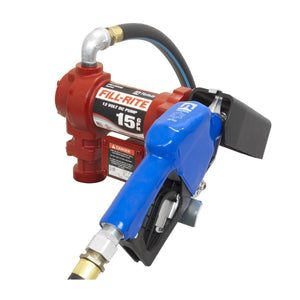 Fill-Rite FR1210GARC 3/4-Inch x 15-Foot Hose 15 GPM 12-Volt Automatic DC Pump - Scratch And Dent