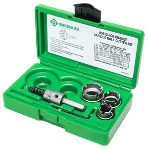 Greenlee 655 Durable Carbide Quick Change Cutter Set for Stainless Steel - 4pc