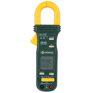 Greenlee CM-450 Durable True RMS AC/DC Data Tester Clamp-On Meter