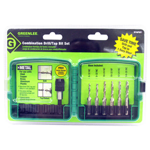 Greenlee DTAPKIT Durable HSS Quick Change Combination Drill and Tap Kit