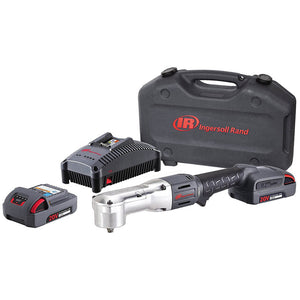 Ingersoll-Rand IRW5330-K2 3/8'' 20V Lithium Ion IQV20 Cordless Right Angle Impactool, 2x Batteries Charger Kit