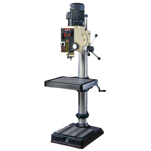 "JET GHD-20 2-Hp 230V 20"" Smooth Quiet Geared Head Drill Press w/ Metric Gauge"