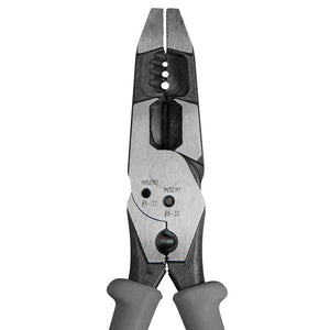 Klein J2158CR Gray Durable Multi-Purpose High Leverage Hybrid Pliers/Crimper