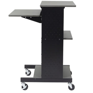 Luxor PS4000 40-Inch 4-Shelf Gray Mobile Rolling Presentation Work Stand