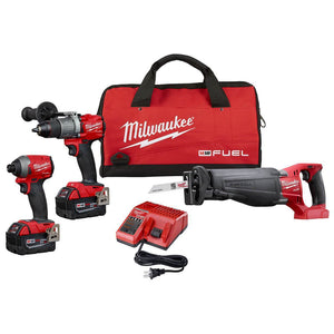 Milwaukee FUEL M18 2997-23 18-Volt 3-Tool Hammer Drill/Driver/Saw Combo Kit