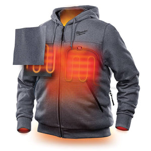 Milwaukee FUEL M12 302G-21M 12-Volt Heated Hoodie Kit - Medium, Gray