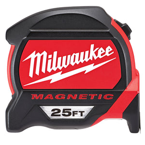 Milwaukee 48-22-7125 25-Foot Reinforced Nylon Bonded Magnetic Tape Measure