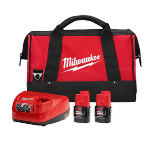 Milwaukee 48-59-2422P 12-Volt 2.0Ah Cordless Lithium-Ion Battery Starter Kit