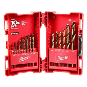 Milwaukee 48-89-2338 Durable Cobalt Red Helix Angle Twist Drill Bit Kit - 23pc