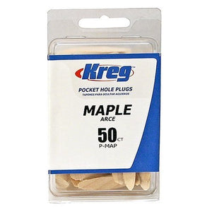 Kreg P-MAP Maple Plugs for Pockets, 50-Pack
